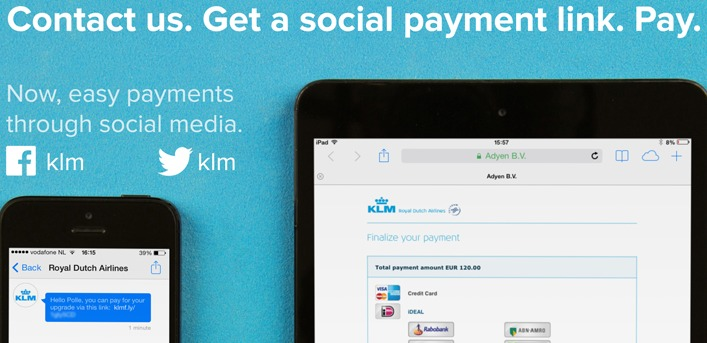 social payments klm