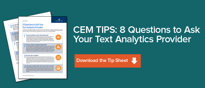 SMALL text analytics vendor questions to ask tip sheet banner