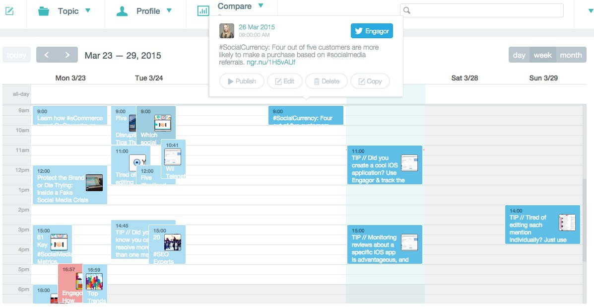 Calendar Overview : Discover our new publisher feature today cx social