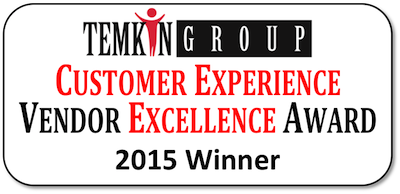 2015 Temkin Group Vendor Excellence Awards- Winner Badge