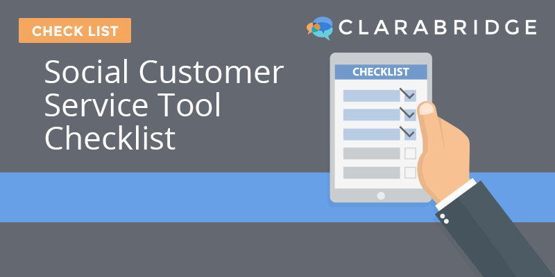 Social Customer Service Tool Checklist