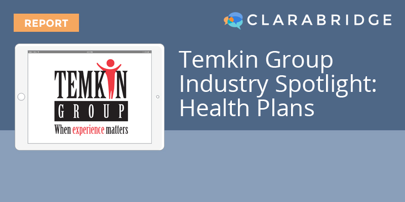 Temkin Group Industry Spotlight: Health Plans
