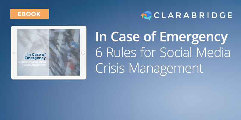 Incase of Emergency: 6 Rules for Social Media Crisis Management
