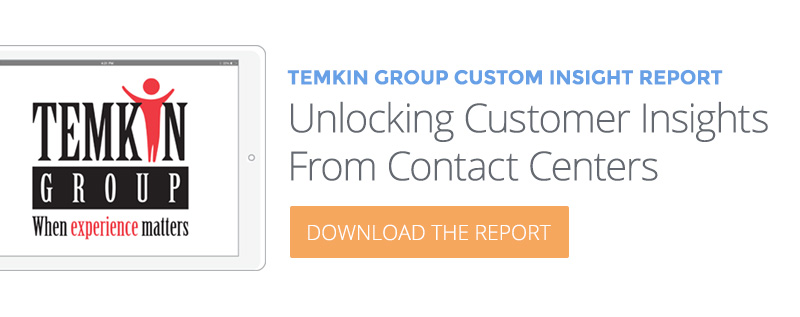 Download eBook: Temkin Group Unlocking Customer Insights from Contact Centers