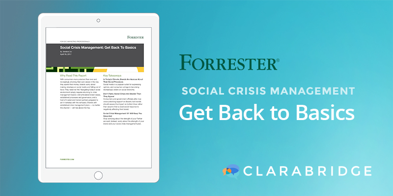 Social Crisis Management: Get Back to Basics