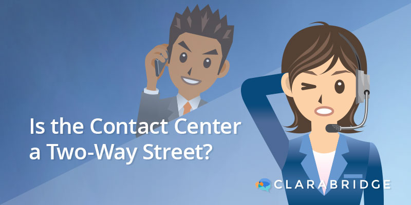 frustrated contact center agent
