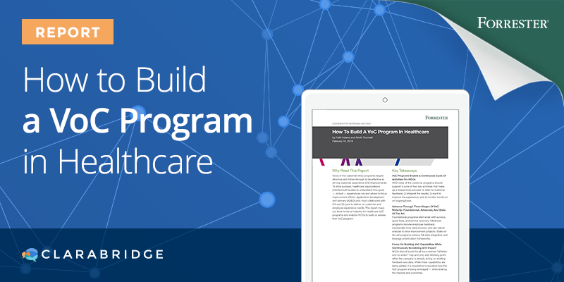 How to Build a VoC Program in Healthcare