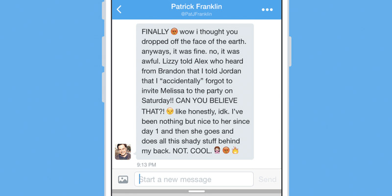 Direct messages in Engagor screenshot