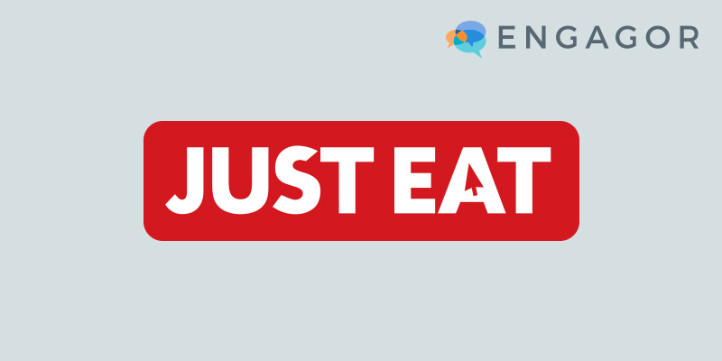 Engagor Logo with Just Eat Logo