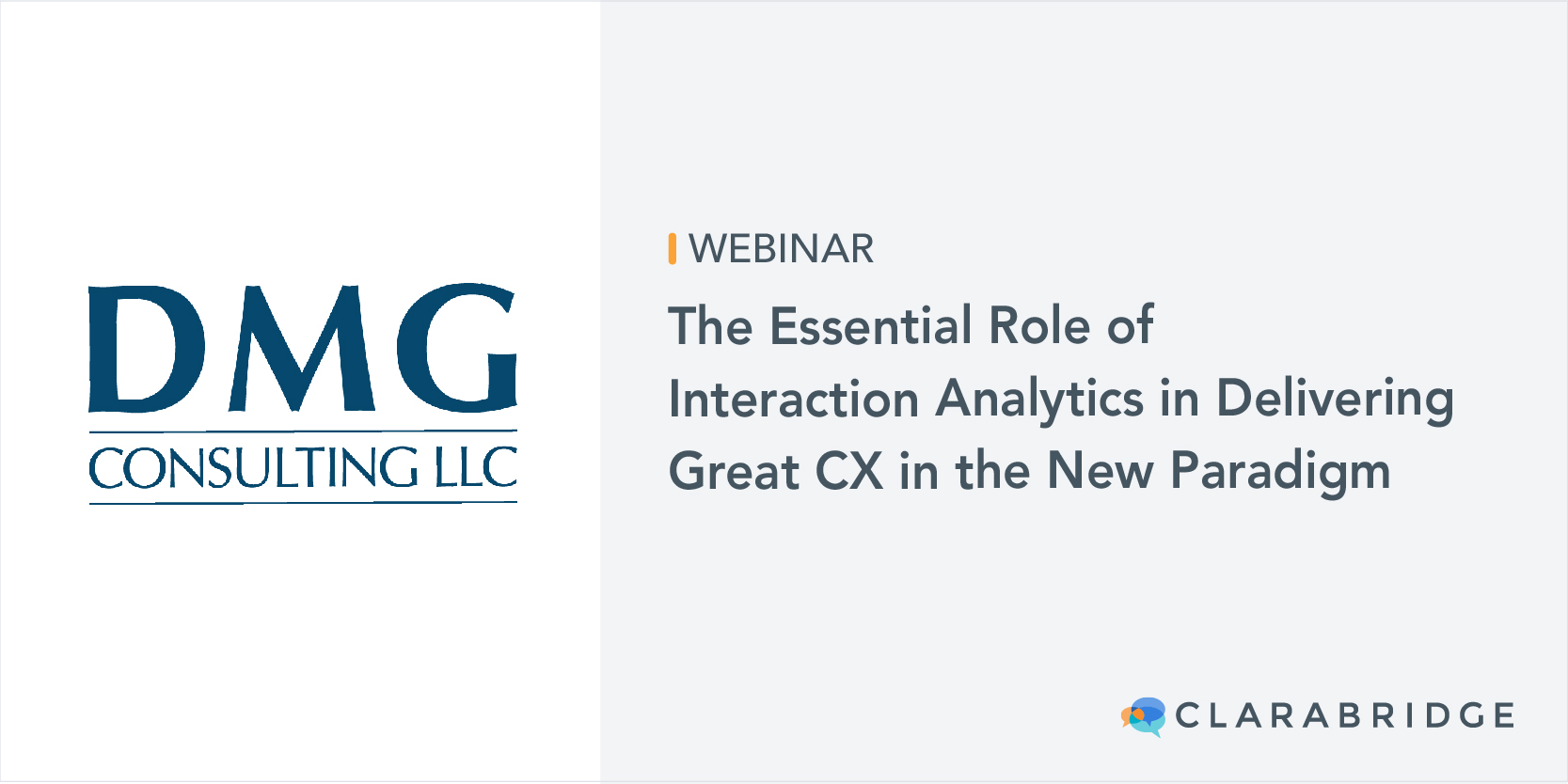 DMG Consulting webinar title image