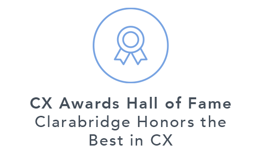 Blue CX Awards Hall of Fame Badge Icon