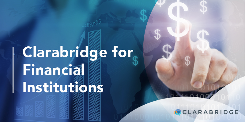 Clarabridge for financial institutions title image