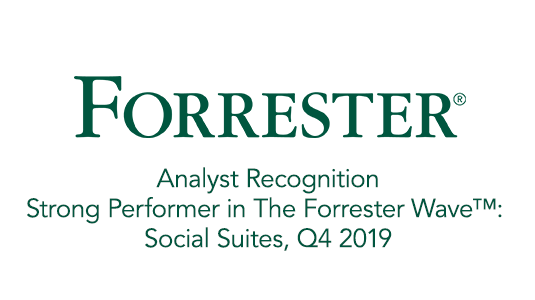 (Analyst Recognition) Strong Performer in The Forrester Wave™: Social Suites, Q4 2019