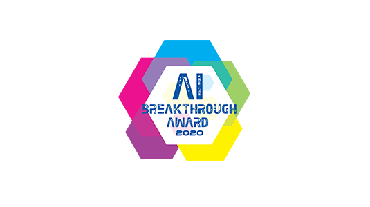 """Winner of the """"Best Natural Language Understanding (NLU) Solution"""" award in the 2020 AI Breakthrough Awards"""