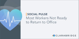 Social Pulse title card for article finding Most Workers Not Ready to Return to Office